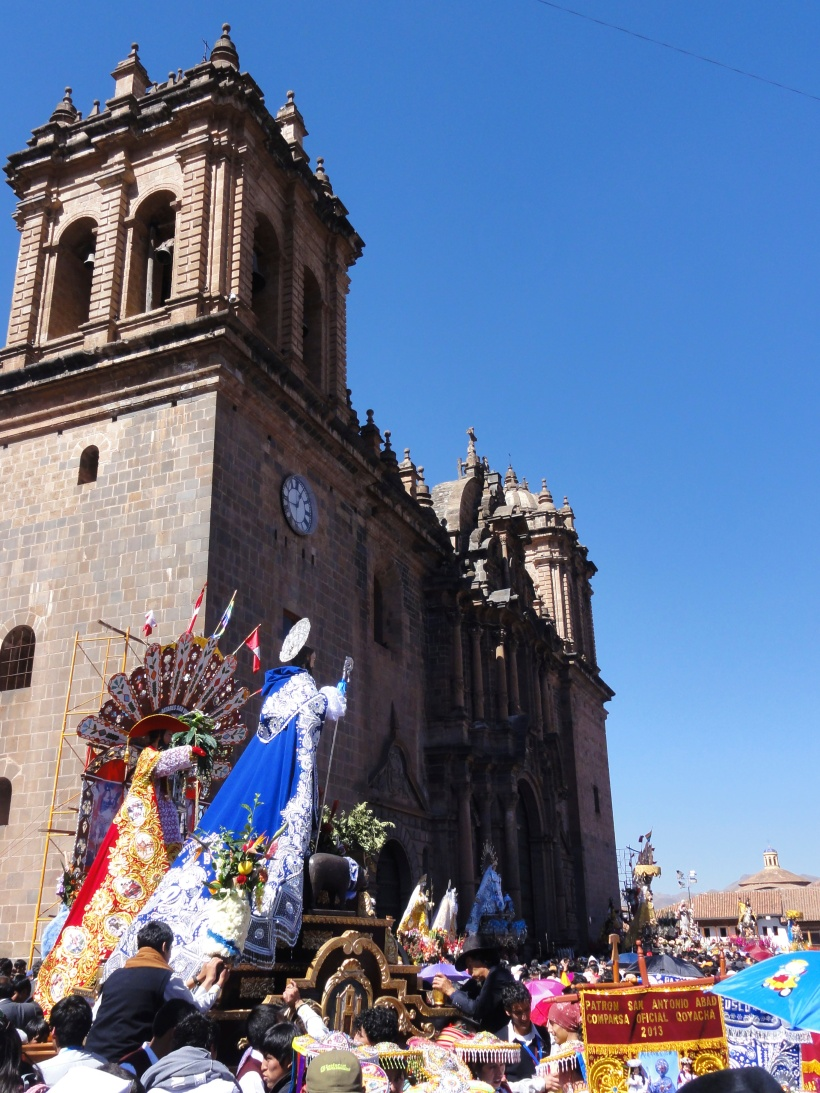 The effigies were accompanied by lots of singing and dancing and a bright blue sky