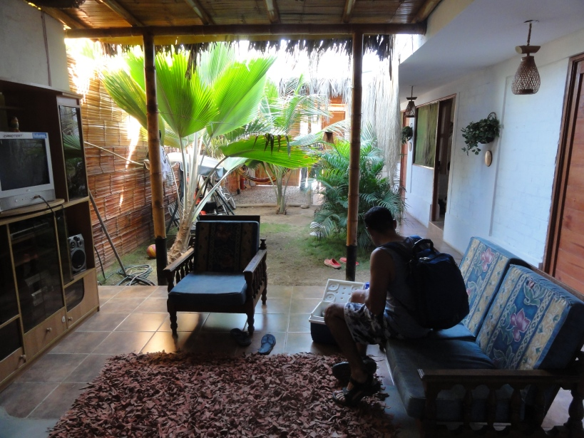 The living area in the hostel, comfy comfy