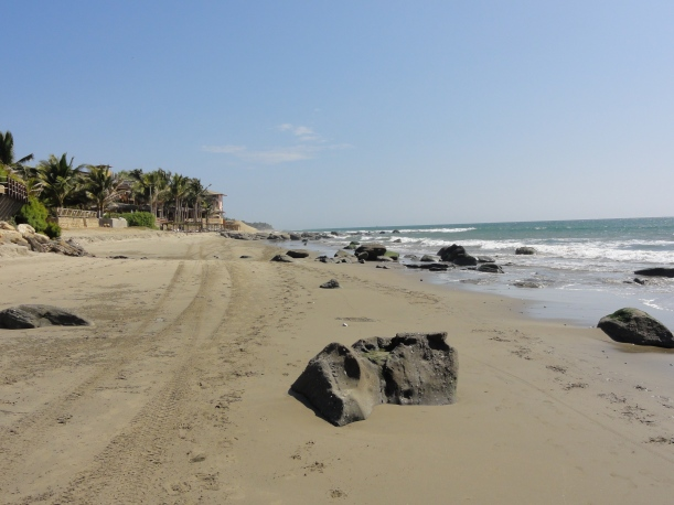 A deserted beach in Mancora. Love it.