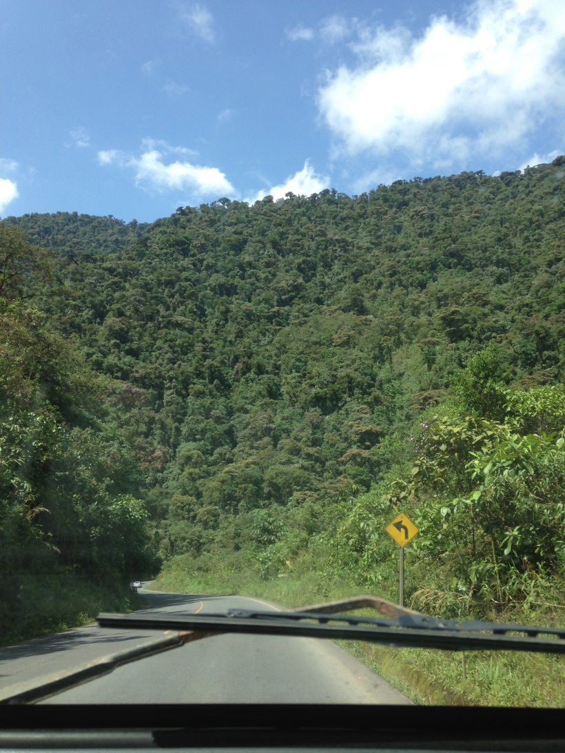 Heading to the forest after a few days in Quito